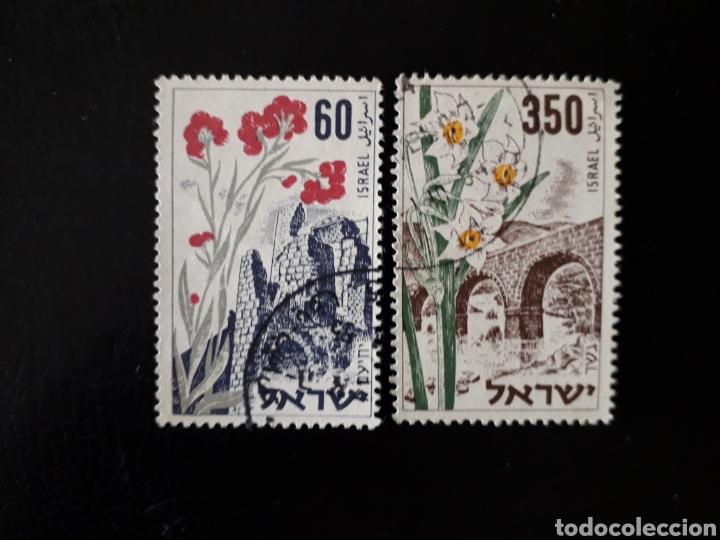 ISRAEL. YVERT 76/7 SIN TAB. SERIE COMPLETA USADA. FLORA. FLORES. (Sellos - Extranjero - Asia - Israel)