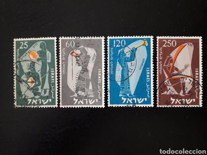 ISRAEL. YVERT 92/5 SIN TAB. SERIE COMPLETA USADA. MÚSICA. MÚSICOS EN TIEMPOS DE LA BIBLIA. (Sellos - Extranjero - Asia - Israel)