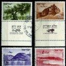 Sellos: ISRAEL MICHEL: 0080/83-85-86-(1953) (CORREO AEREO; PAISAJES) (CON TAB) USADO. Lote 163512942