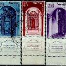 Sellos: ISRAEL MICHEL: 0089/91-(1953) (AÑO NUEVO JUDIO) (CON TAB) USADO. Lote 163513710