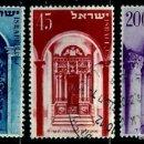 Sellos: ISRAEL MICHEL: 0089/91-(1953) (AÑO NUEVO JUDIO) USADO. Lote 163513750