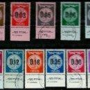 Sellos: ISRAEL MICHEL: 0191A/201-(1960) (MONEDAS JUDIAS - SELLOS PROVISIONALES) (CON TAB) USADO. Lote 165082686
