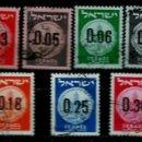 Sellos: ISRAEL MICHEL: 0191A/201-(1960) (MONEDAS JUDIAS - SELLOS PROVISIONALES) USADO. Lote 165082926