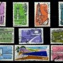 Sellos: ISRAEL MICHEL: 0202/11-(1960/62) (AEREOS) (LUGARES DE INTERÉS TURÍSTICO) USADO. Lote 165086554