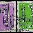 Sellos: ISRAEL MICHEL: 0202-203-(1960) (AEREOS) (ZEFAT Y ASHQELON) USADO. Lote 165088006