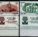 Sellos: ISRAEL MICHEL: 0212/213-(1960) (AÑO MUNDIAL DEL REFUGIADO) (CON TAB) USADO. Lote 165088854