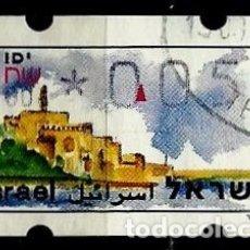 Sellos: ISRAEL MICHEL: AT10-(1994) (ATM-KLUSENDORFF) (YAFO) (0.05) (USADO). Lote 175297283