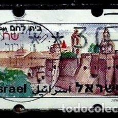 Sellos: ISRAEL MICHEL: AT11-(1994) (ATM-KLUSENDORFF) (BELEN) (0.30) (USADO). Lote 175297435