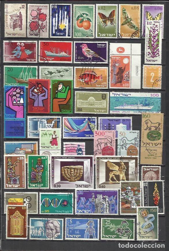 R64--LOTE SELLOS ESTADO ISRAEL SIN REPETIDOS,SIN TASAR,INTERESANTES,ESCASOS,FOTO REAL. ************* (Sellos - Extranjero - Asia - Israel)