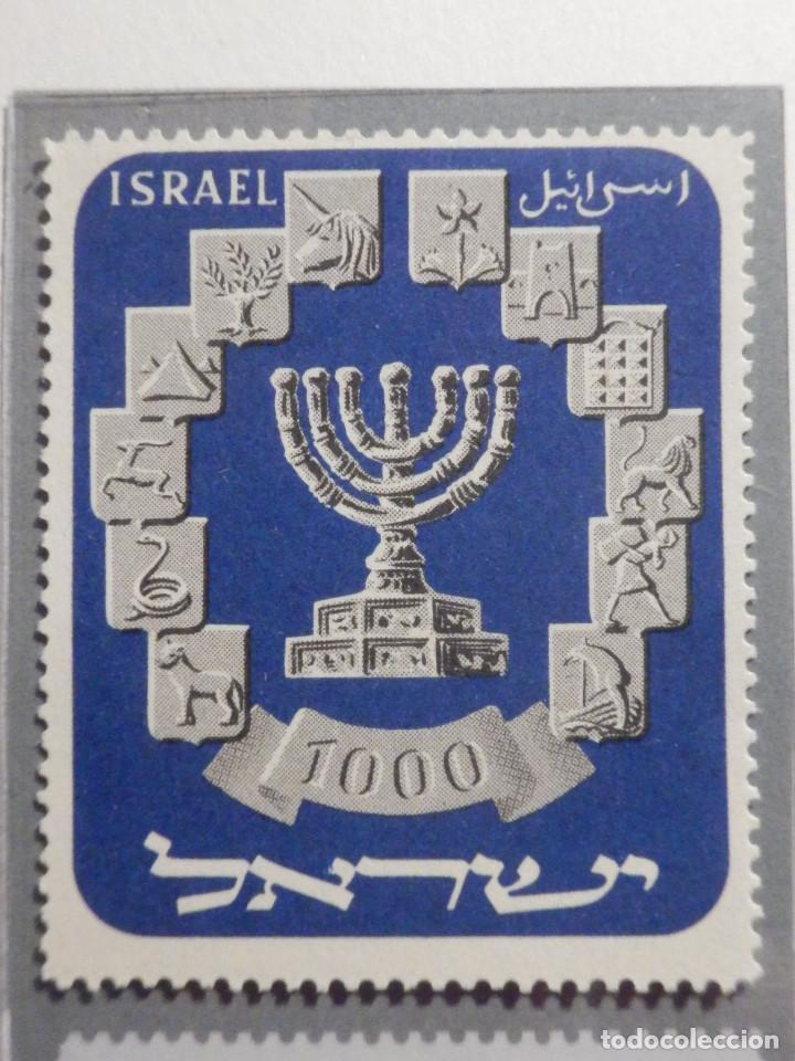 Sellos: Israel Sello Correo - Año 1952 - Yvert & Tellier nº 53 - Nuevo - Menora - - Foto 2 - 194254872