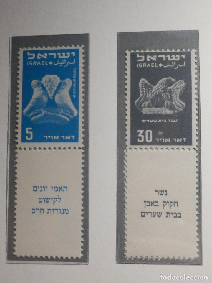 Sellos: Israel Correo Aereo - Año 1950 - Yvert & Tellier Nº 1 a 6 - Nuevos - Exposicion filatelica Taba - Foto 2 - 194254991