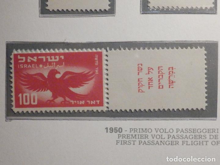 Sellos: Israel Correo Aereo - Año 1950 - Yvert & Tellier Nº 1 a 6 - Nuevos - Exposicion filatelica Taba - Foto 4 - 194254991