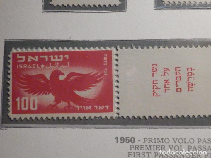 Sellos: Israel Correo Aereo - Año 1950 - Yvert & Tellier Nº 1 a 6 - Nuevos - Exposicion filatelica Taba - Foto 10 - 194254991