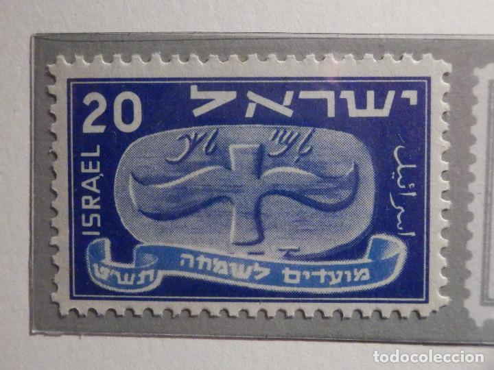 Sellos: Israel Correo Postal - Año 1948 - Yvert & Tellier Nº 10 a 14 - Nuevos - Nuevo año - Foto 5 - 194255066