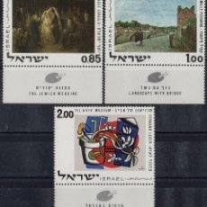 Sellos: ISRAEL 1970 IVERT 426/8 *** ARTE - OBRAS DEL MUSEO DE TEL AVIV - PINTURA. Lote 196521483