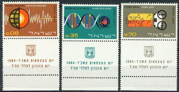 ISRAEL 1964 IVERT 251/3 *** 16º ANIVERSARIO DEL ESTADO - CONTRIBUCIÓN A LA CIENCIA (Sellos - Extranjero - Asia - Israel)