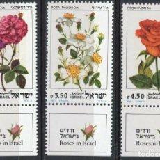 Sellos: ISRAEL 1981 IVERT 806/8 *** FLORA - ROSAS. Lote 200266713