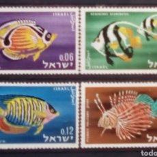 Francobolli: ISRAEL PECES SERIE DE SELLOS SIN MATASELLOS. Lote 201191850