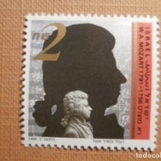 Sellos: SELLO ISRAEL YVERT 1148 - AÑO 1991 - INTERNATIONAL YEAR OF MOZART - SIN TAB - NUEVO ***. Lote 206297226
