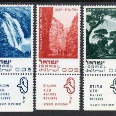 Sellos: ISRAEL 1970 IVERT 394/98 *** PROTECCIÓN DE LA NATURALEZA - PAISAJES. Lote 207637235