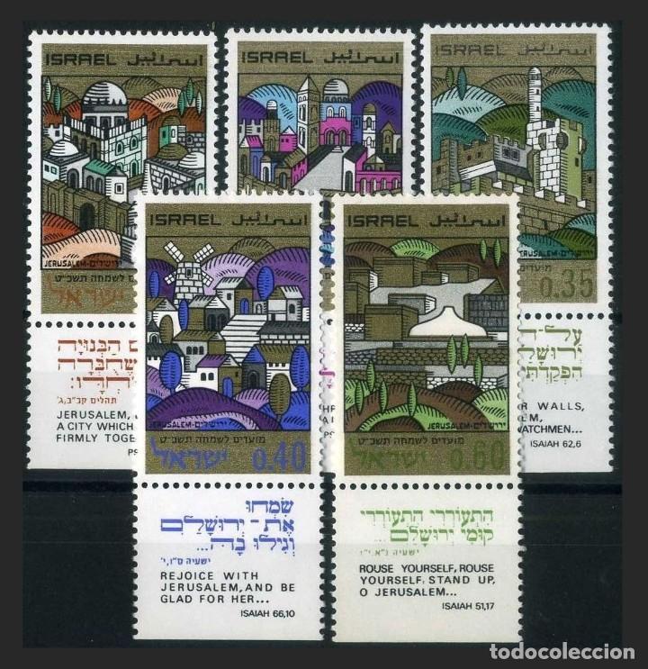ISRAEL 1968 - AÑO NUEVO - VISTAS DE JERUSALEN - YVERT Nº 363/367** (Sellos - Extranjero - Asia - Israel)