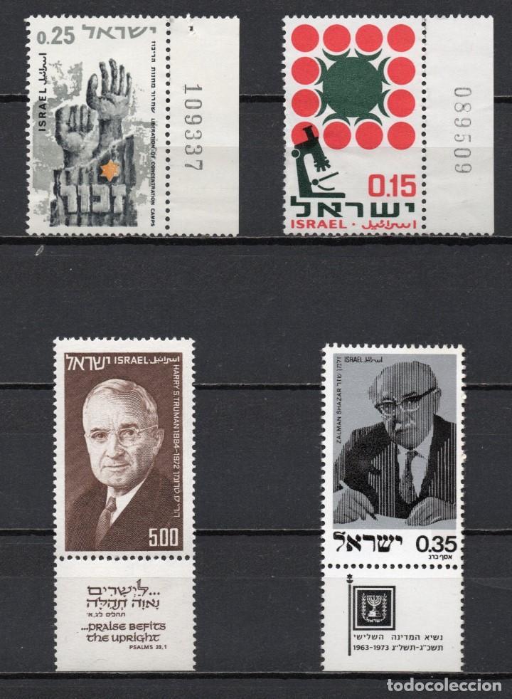 """LOTE DE 4 SERIES COMPLETAS NUEVAS ** MNH DE """"ISRAEL"""", AÑOS 1965/1975, EN PERFECTO ESTADO (Sellos - Extranjero - Asia - Israel)"""
