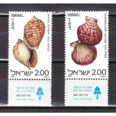 Sellos: ISRAEL 1977 IVERT 668/71 *** FAUNA MARINA - CONCHAS DEL MAR ROJO. Lote 213522327