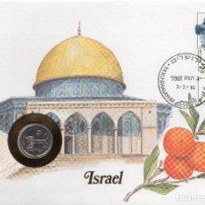 Sellos: ISRAEL NUMISBRIEF 1983 MICHEL 950 + IL 109. Lote 276802593