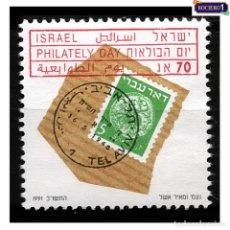 Sellos: ISRAEL 1991. MICHEL 1203, SCOTT 1095. DÍA DE LA FILATELIA. NUEVO** MNH SIN GOMA. Lote 218539690