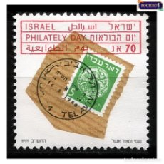 Sellos: ISRAEL 1991. MICHEL 1203, SCOTT 1095. DÍA DE LA FILATELIA. NUEVO** MNH SIN GOMA. Lote 218539750