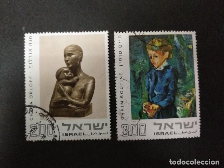 ISRAEL 1974.542/48 PINTURAS Y ESCULTURAS DE MOSHE KISLING, CHANA ORLOFF Y CHAIM SOUTINE. (Sellos - Extranjero - Asia - Israel)