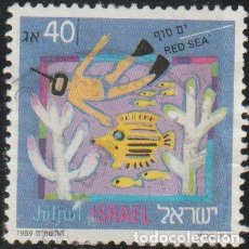 Sellos: ISRAEL 1989 SCOTT 1007 SELLO º TURISMO RED SEA MICHEL 1116 YVERT 1060 STAMPS TIMBRE BRIEFMARKE. Lote 227030140