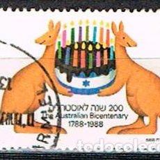 Sellos: ISRAEL Nº 1082, 2º CENTENARIO DE LA LLEGADA DE LOS PRIMEROS COLONOS A AUSTRALIA. USADO. Lote 228037490
