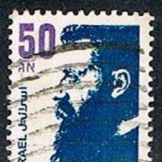 Sellos: ISRAEL Nº 1022, THEODOR ZEEV HERZL. ESCRITOR, PERIODISTA Y FUNDADOR DEL MOVIMIENTO SIONISTA, USADO. Lote 228039505