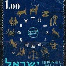 Sellos: ISRAEL Nº 235, LOS SIGNOS EL ZODIACO, USADO. Lote 228174355