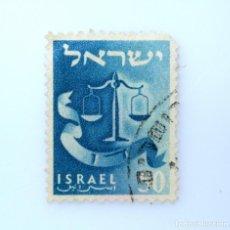 Sellos: SELLO POSTAL ISRAEL 1957, 50 PRUTA, EMBLEMA DE DAN, USADO. Lote 233832895