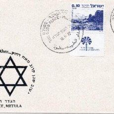 Sellos: ISRAEL, 1977, CARTA , MICHEL ,719-720. Lote 237518270