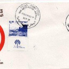 Sellos: ISRAEL, 1977, CARTA , MICHEL ,719-720. Lote 237518305