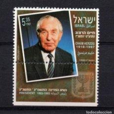 Sellos: ISRAEL 1392** - AÑO 1998 - HOMENAJE A CHAIM HERZOG. Lote 245046940