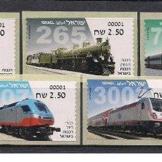 Sellos: ISRAEL 2018 - ISRAEL 2018 - ISRAELI TRAINS & LOCOMOTIVES - ATM SET MNH. Lote 251921750