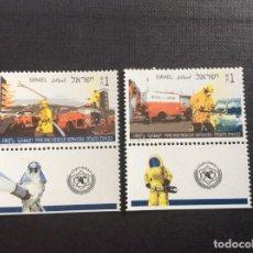 Sellos: ISRAEL Nº YVERT 1297/8 CON TABS*** AÑO 1995. BOMBEROS Y EQUIPOS DE SALVAMENTO. Lote 264471824