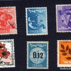 Sellos: ASÍA. ISRAEL, VARIOS. YT104, 101, 103, 1161, 169 Y 836 , USADOS SIN CHARNELA. Lote 270454908