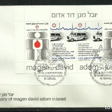 Sellos: ISRAEL.- HOJA BLOQUE Nº 19 EN SOBRE DE PRIMER DIA. Lote 276528943