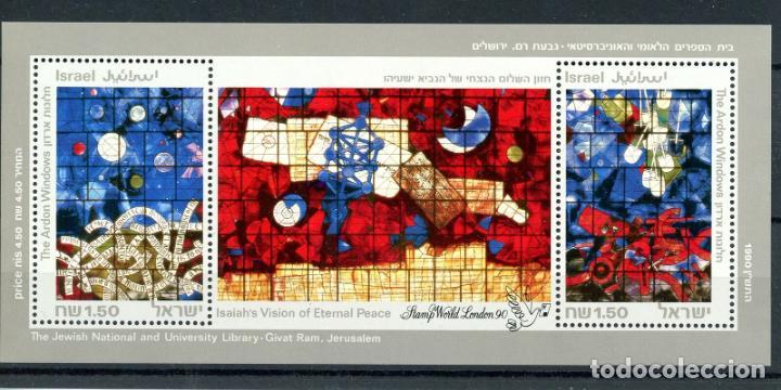 ISRAEL 1990 HB IVERT 42 *** EXPOSICIÓN FILATÉLICA MUNDIAL EN LONDRES - ARTE (Sellos - Extranjero - Asia - Israel)