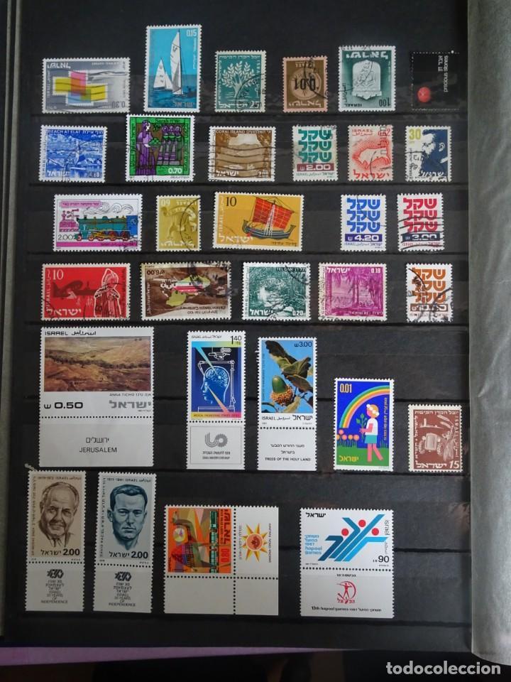 Sellos: LOTE DE 2 PÁGINAS ALBUM SELLOS VARIADOS DE ISRAEL, ANTIGUOS Y MODERNOS, VER FOTOS - Foto 4 - 286331598