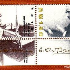 Sellos: SELLOS ISRAEL 1986 992/3 MUSICOS BRONISLAW HUBERMAN/ARTURO TOSCANINI 2V. B. Lote 293547928