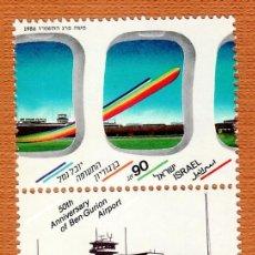 Sellos: SELLOS ISRAEL 1986 983 AEROPUERTO 1V. B. Lote 293549423