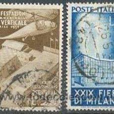 Sellos: ITALIA YVERT Nº 595/6. 29 FERIA DE MILAN (1951). USADOS. Lote 26834681