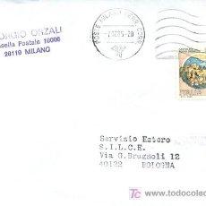 Sellos: ITALIA, SOBRE CIRCULADO POR CORREO FERROVIARIO EL 7-12-1985 (VER DETALLE). Lote 5240587