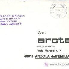 Sellos: ITALIA, SOBRE CIRCULADO POR CORREO FERROVIARIO EL 20-5-1980 (VER DETALLE). Lote 5240601
